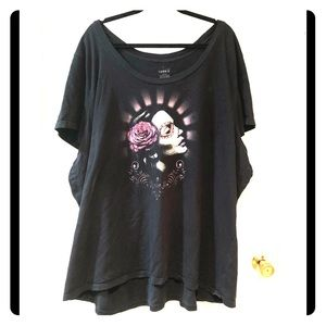 Euc Torrid 6x  day of the dead sugar skull shirt